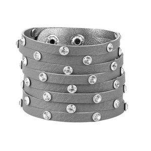 Sass Squad Silver Wrap Edgy Urban Bracelet Jewelry